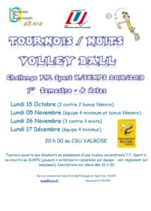 VOLLEY BALL - Challenge FFSU / SUAPS @ CSU VALROSE - NICE | Nice | Provence-Alpes-Côte d'Azur | France