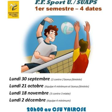 VOLLEY BALL – Challenge FFSU/SUAPS
