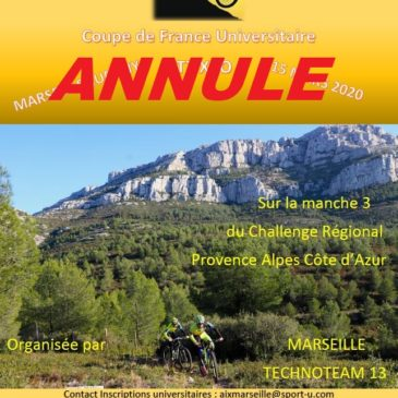 ANNULATION CFU VTT – 15 Mars Luminy
